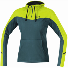 GORE WEAR R3 Sweat À Capuche Femme, dark nordic/citrus green